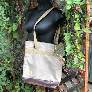 Carhartt tote/backpack hybrid.